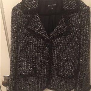 Black Silver Jones New York Jacket Sz 16W